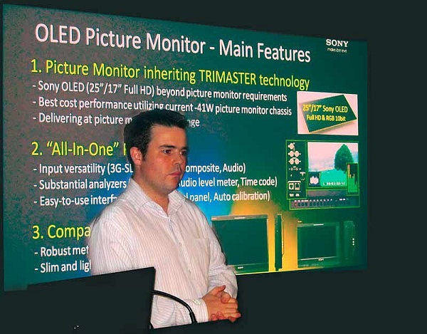 Alex Lofts, Product Manager, Professional Monitors explained the OLED product.