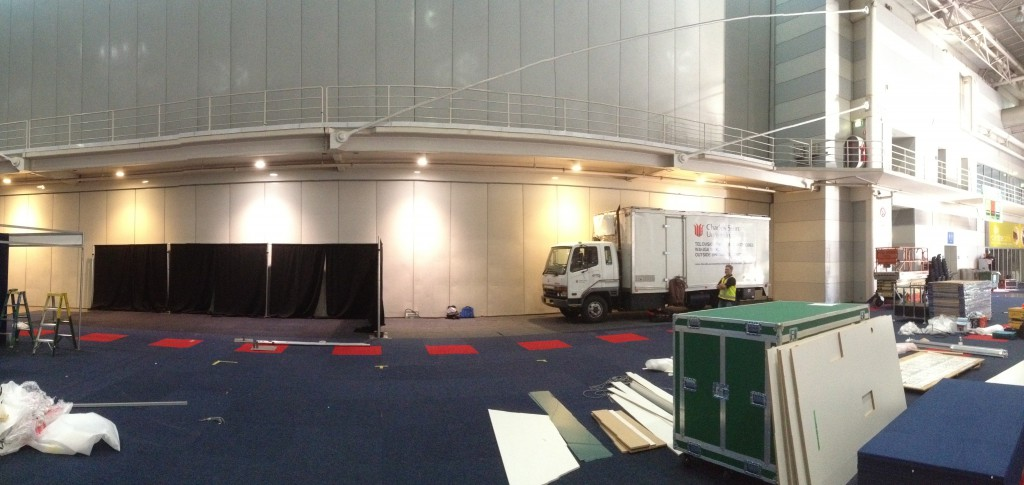 The site comes together - CSU OB Truck and our future home